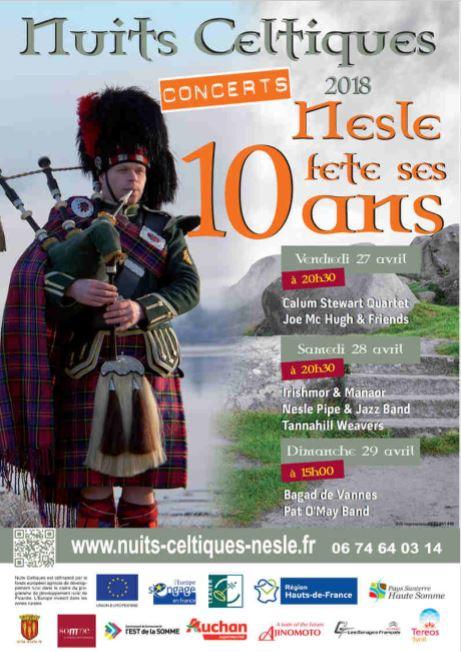 Affiche Festival Nuits Celtiques de Nesle à Nesle