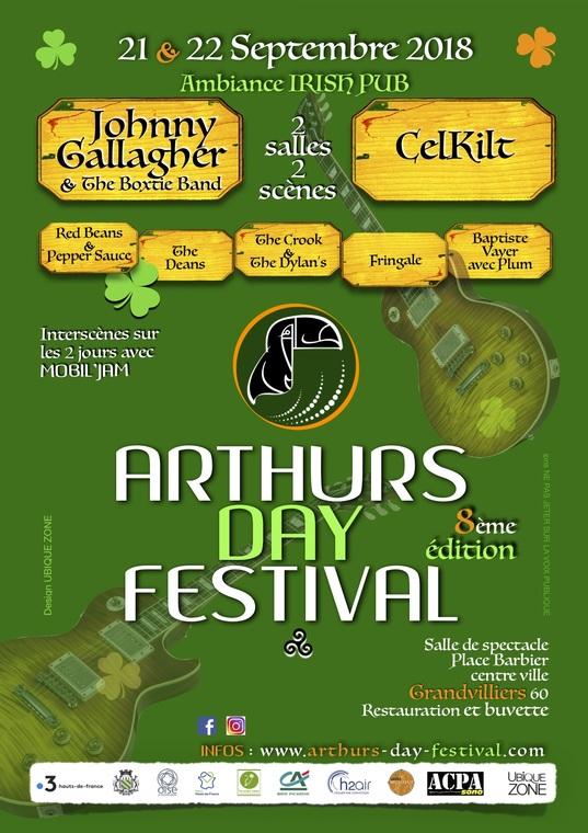 Affiche Concert rock celtique au 8e Arthur's Day Festival à Grandvilliers