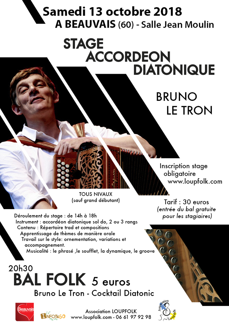 Affiche Stage accordéon diatonique à Beauvais