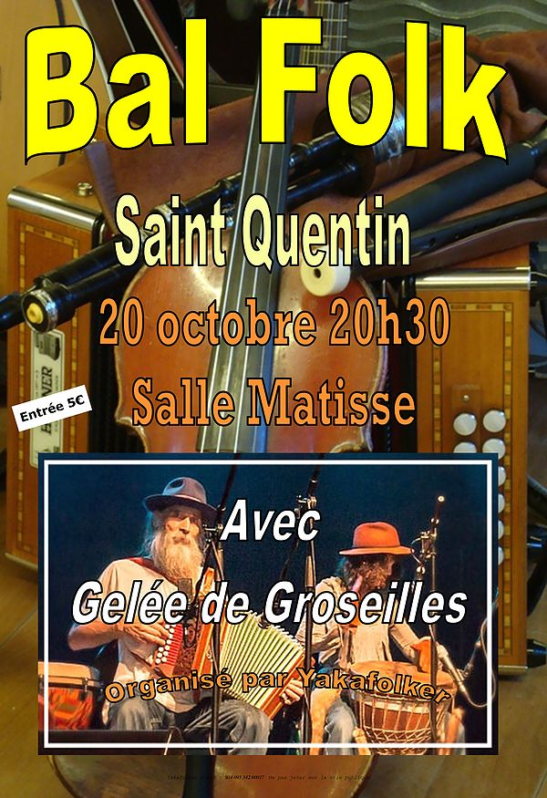 Affiche Bal folk  à Saint Quentin