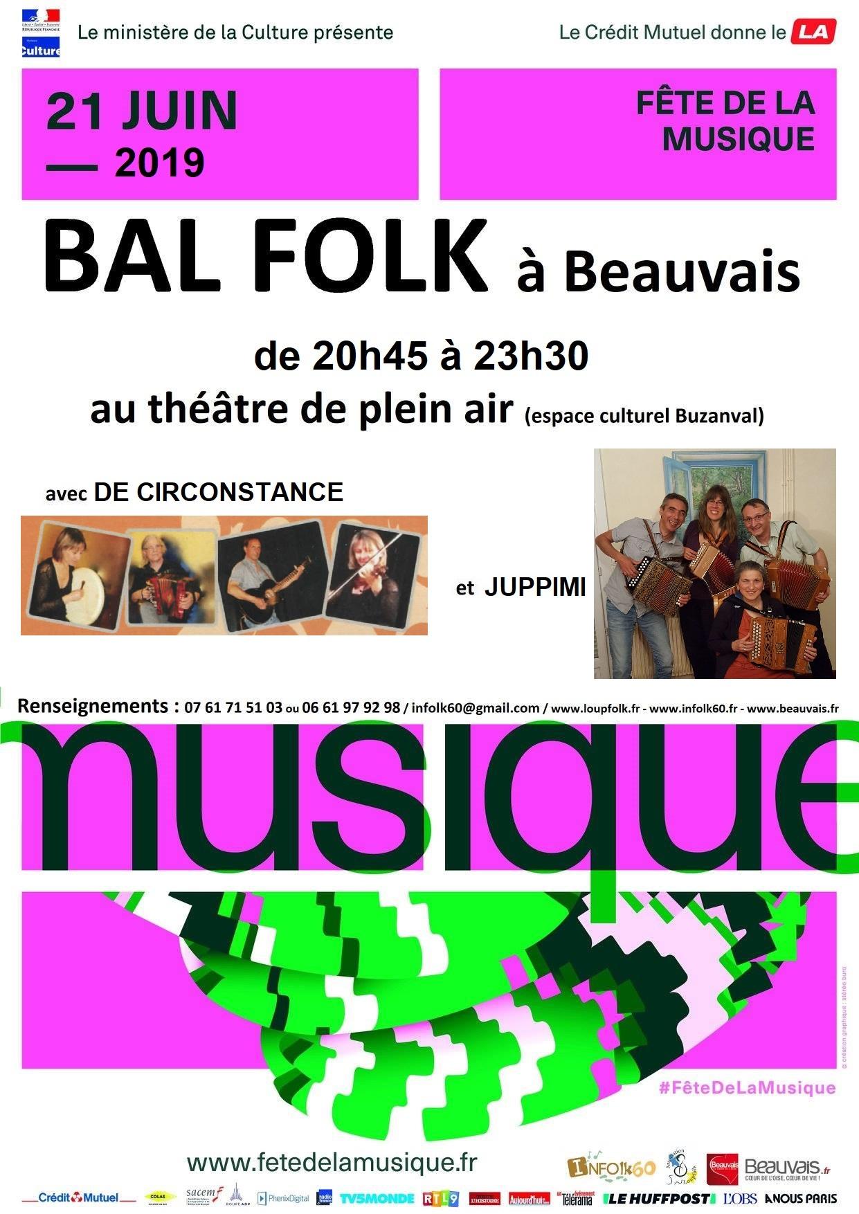 Affiche Bal folk bal folk de la fête de la musique 2019 à Beauvais